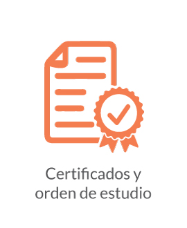 Certificados y orden de estudio