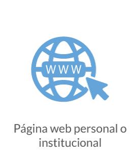 Página Web personal o de la institución