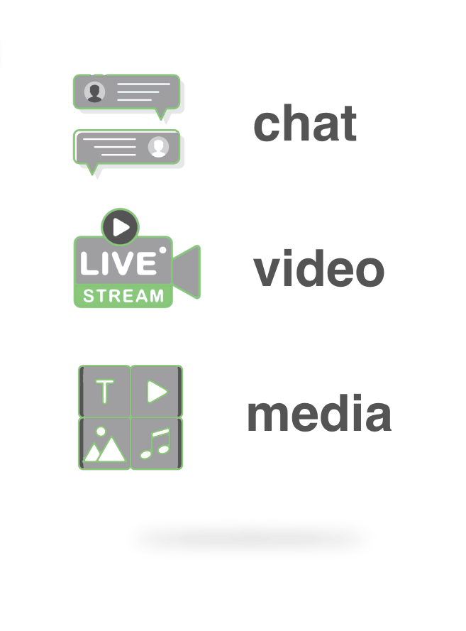 Chat, Video & Contenido Multimedia en BMD Chat